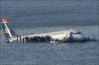 US Airways plane in Hudson