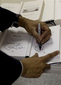 Obama signs book