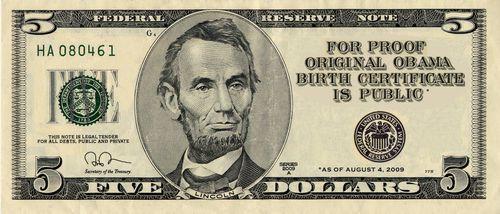 Five for Obama birth paper