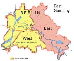 Berlin wall all around
