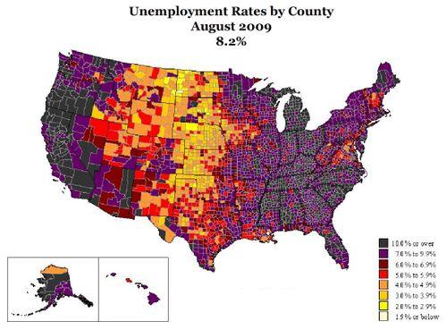 Unemployment Aug 2009