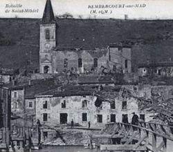 Rembercourt battle postcard