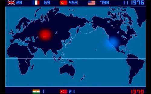 Atomic bomb map