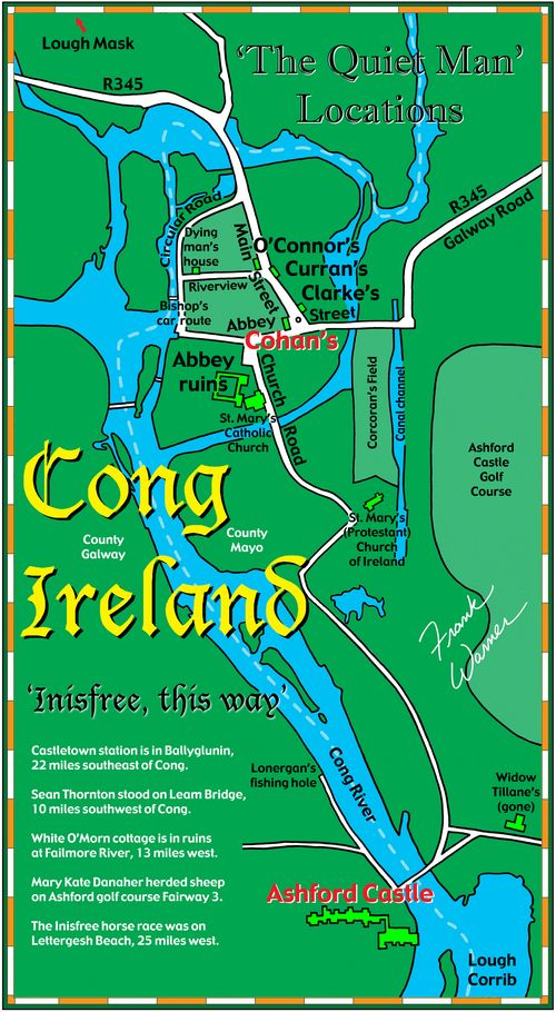 Cong Ireland map