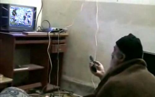 Bin Laden watches self TV