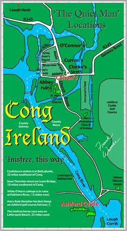 Map of Cong Ireland Quiet Man