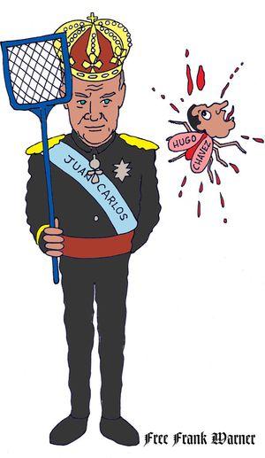 King Juan Carlos swats Hugo Chavez