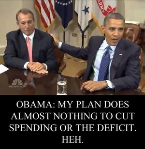 Boehner Obama deficits